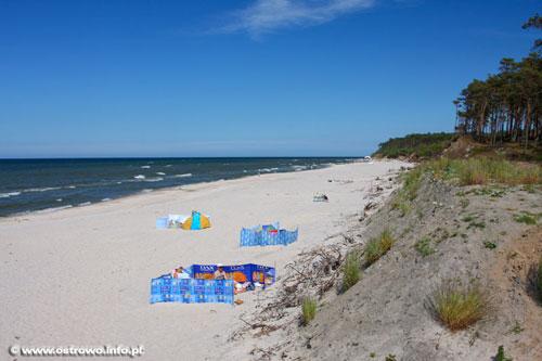 Ostrowo nadmorska plaża